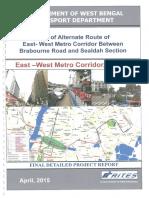 DPR of Alt Route of E-W Metro - April 2015
