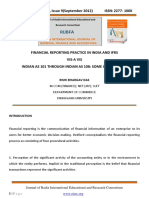 Financial Reporting Practice in India and Ifrs