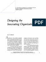 Galbraith 1982 . Designing the Innovating Organization. Organizational Dynamics