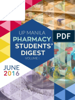 UP Manila Pharmacy Students' Digest Volume I - June 2016