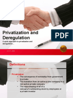 Privatization and Deregulation NhoelRes