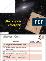 Cosmic Calendar PPT
