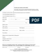 Waiting List Application Form - St Marys