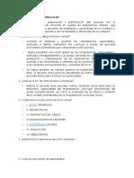 Programación Curricular Informe