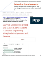 100 TOP MOST MAGNETISM and ELECTROMAGNETISM - Electrical Engineering Multiple choice Questions and Answers Electrical Engineering Multiple Choice Questions.pdf