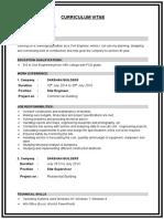 Sample_CV for civil engineer