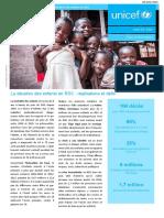 UNICEF RDC Note d'information sur la situation des enfants en RDC