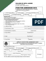 Admission Form Qec