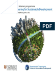 Mphil in Engineering for Sustainable Development Brochure