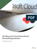 Die Microsoft Cloud Deutschland