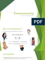 Entrepreurship Presentation at Woman of Destiny