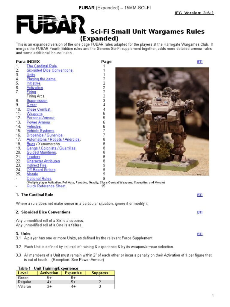 FUBAR IEG Rules Expanded Version 3-6-1   Armoured Fighting