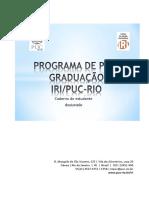 Caderno Do Estudante Doutorado PUC Rio