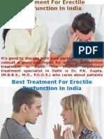 Best Sex Doctor For ED Treatment in Delhi
