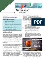 CAIL Newsletter - April 2016