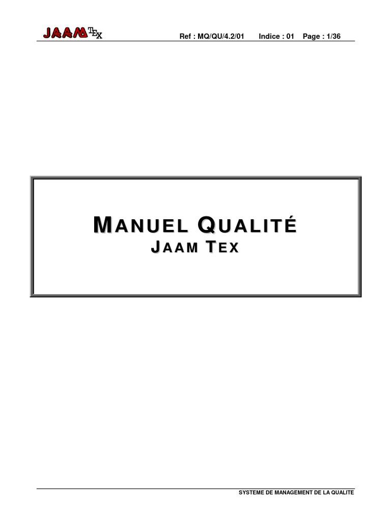 MANUEL QUALITÉ ISO 9001.pdf | Management de la qualité ...
