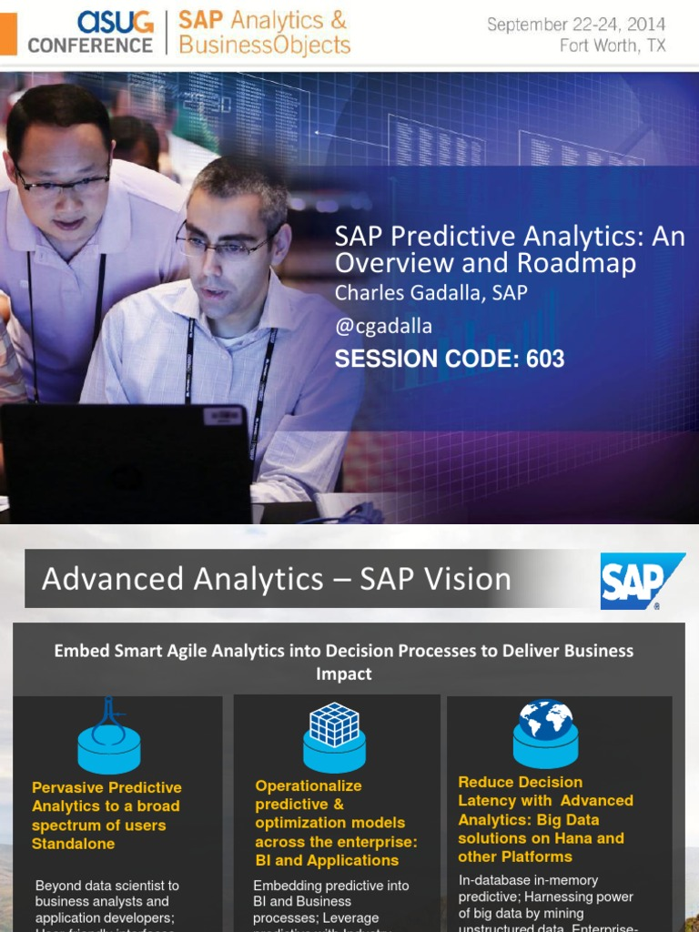 0603 SAP Predictive Analytics An Overview and Roadmap pdf