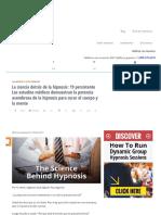 Ciencia Detrás de La Hipnosis_ 19 Estudios Médicos Demostrar Funciona La Hipnosis