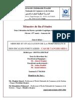 projet de fin d'études  (Mesure et Evaluation de la performance des escales portuaires TM1)