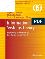 Information Systems Theory Explaining and Predicting Our Digital Society, Vol. 1 (Integrated Series in Information Systems)