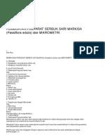 Pembuatan Preparat Serbuk Sari Markisa (Passiflora Edulis) Dan Mikrometri _ Wararindi's Blog