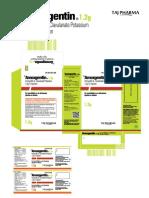 Amoxgentin - Amoxycillin & Potassium Clavulanate Injection - Export 1.2g I.v - Info