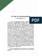 Silberer, Herbert - Zur Frage Der Spermatozoentraume