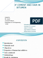 Addiition of Cement and Hair in Bitumen