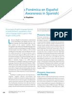 Conciencia Fonémica en Español