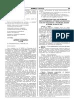 Decreto Legislativo que establece dispocisiones para optimizar los servicios que son financiados a través del Seguro Integral de Salud (SIS)