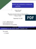 Principal Component and Constantly Re-balanced Portfolio - Slides