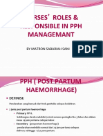 PPH - Nurse Role and Responsibilities in Pph