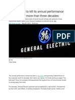 Why GE Had to Kill Its Annual Performance Reviews After More Than Three Decades