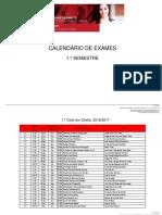 Calendario Exames FDUNL 16-17