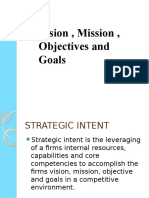Mission Vision Goals and Objectives