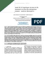 3 Article Sur La Logistique Inverse TUNISIE IMPO