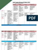 Year 3 English Yearly Scheme of Work 2015 GOOD