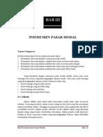Manajemen Investasi - Instrumen Pasar Modal