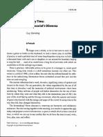 Standing (2013) Precariats Dilemma
