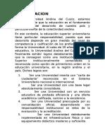 PRESENTACION - ANDINA CUSCO