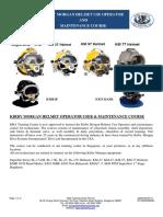 195 Kirby Morgan Helmet User Operator and Maintenance Course