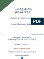 Managementul organizatiei