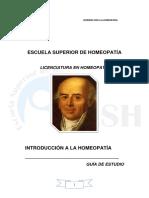 Guía Introducción a La Homeopatía