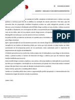 Espelho - Simulado Administrativo - XXI Exame da OAB - 2ª fase