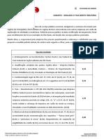 Espelho - Simulado Tributário - XXI Exame da OAB - 2ª fase