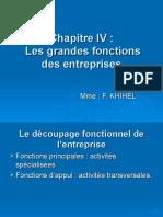 EOE Chapitre IV Les Grandes Fonctions des entreprises
