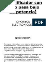 Amplificador con filtro pasa bajo de potencia.pptx