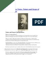 Jurisprudence Notes- Nature and Scope of Jurisprudence