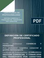 Presentación Certificado Profesionalidad