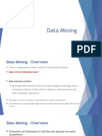 1 Data Mining Overview x